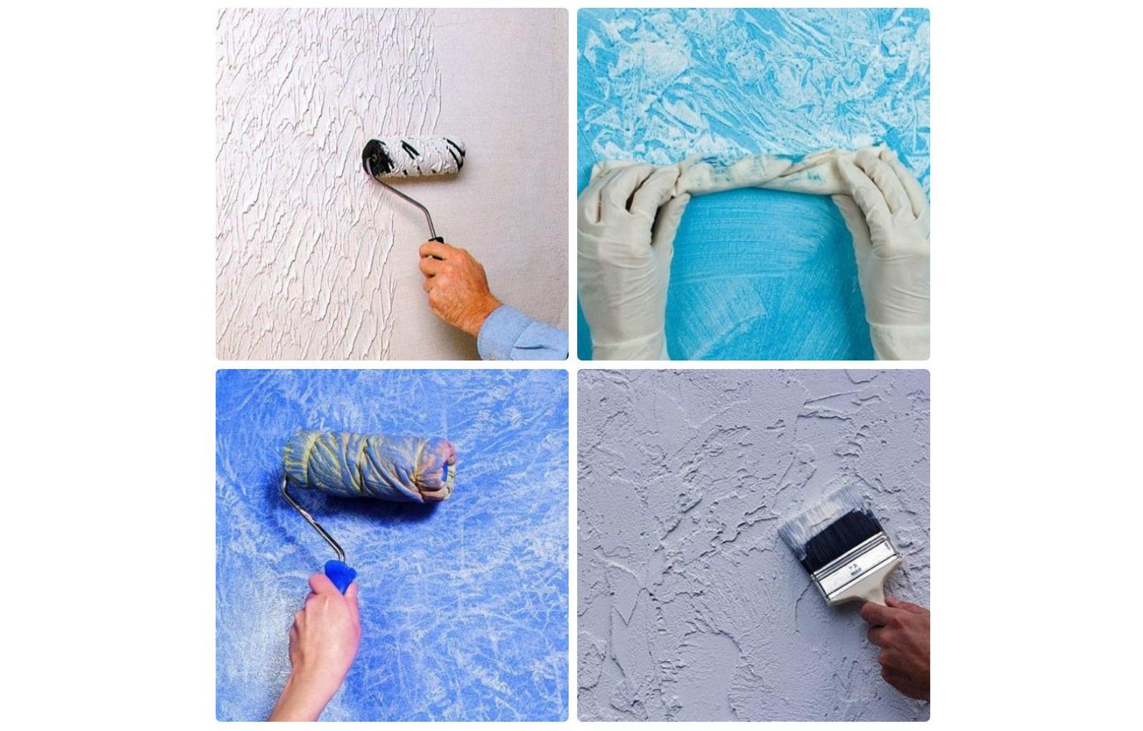 Окраска стен фактурной краской своими руками 9
