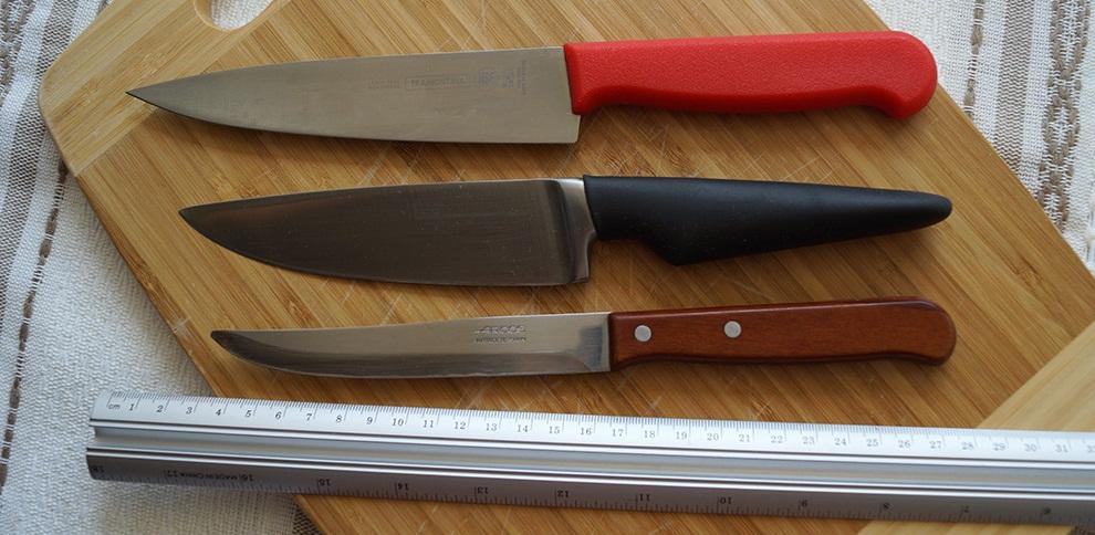 Кухонный нож с комбинированной ручкой