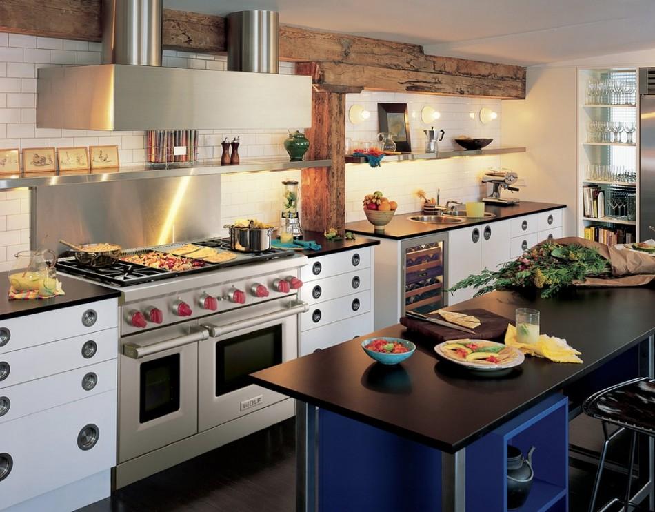 Кухня с креативным дизайном