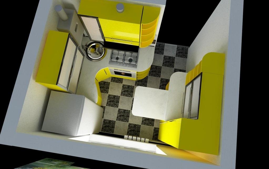 Макет маленькой кухни
