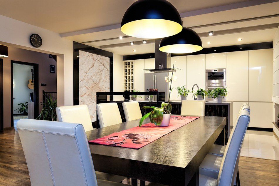 Правильное освещение на маленькой кухни