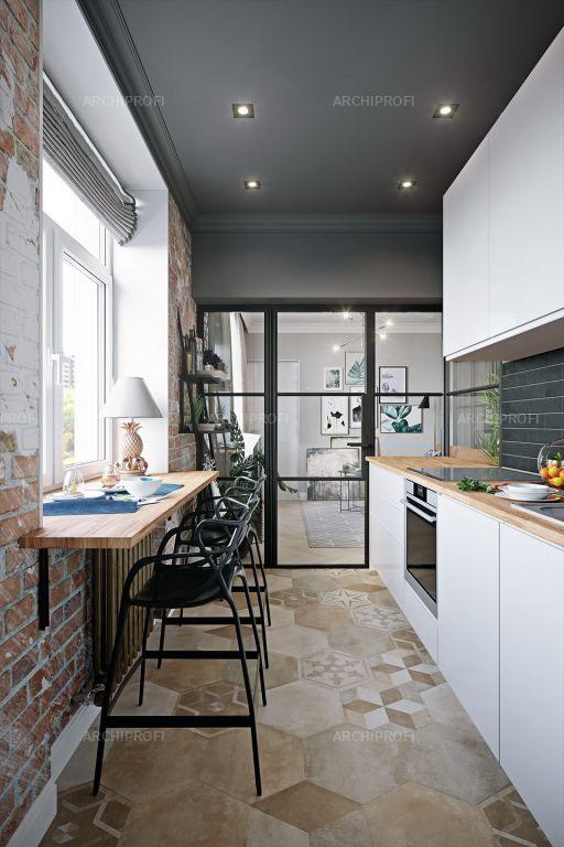 Лофт в оформлении БС на кухне