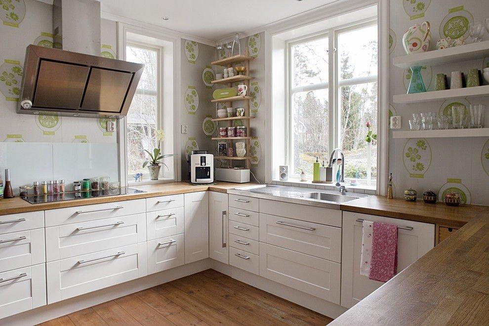 П-образная планировка кухни гостиной 20 кв м с окнами с двух сторон
