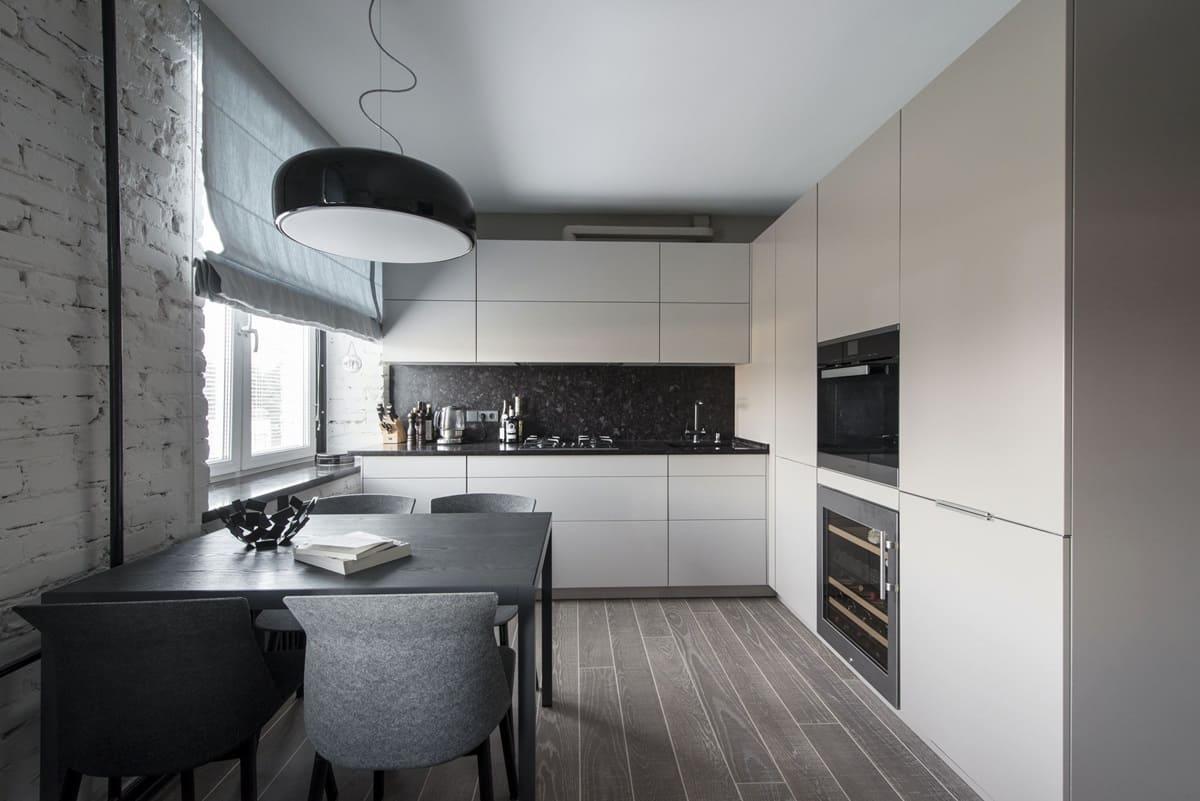 кухня-столовая в стиле минимализм