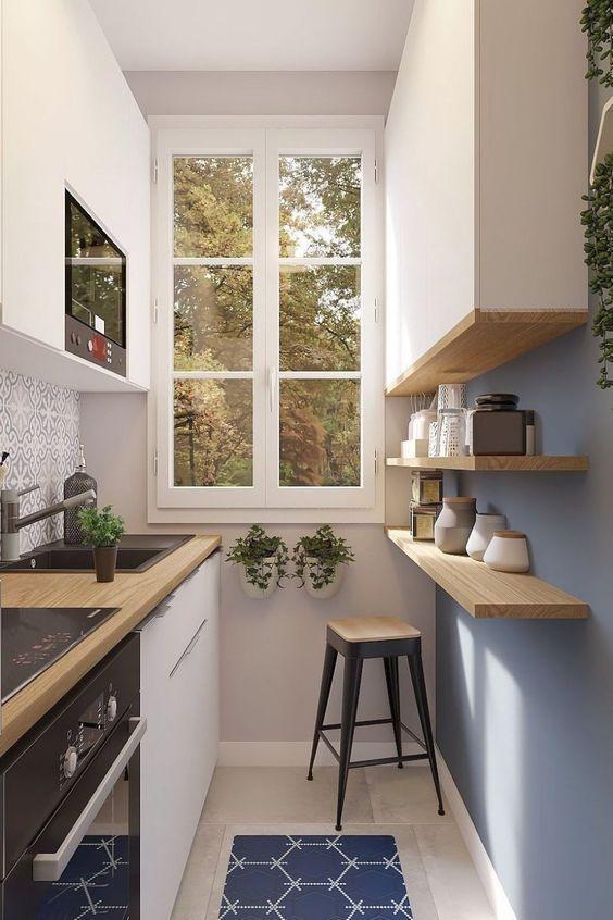 Параллельная планировка на маленькой кухне