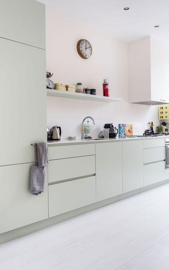 Белоснежная кухня в нордическом стиле