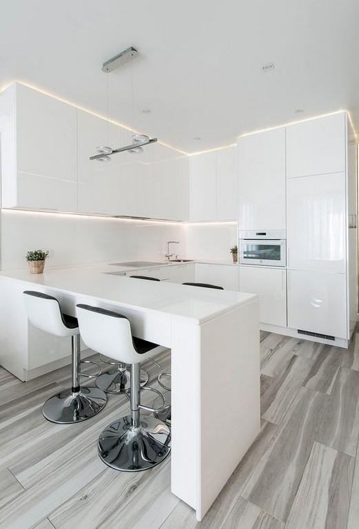 Дизайн кухни в современном стиле минимализм