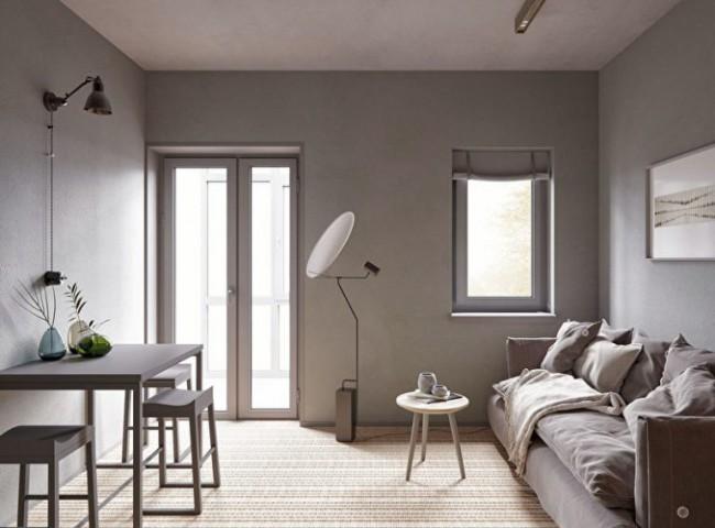 оформления зоны отдыха в стиле минимализм